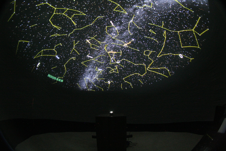 Test della Sfera Didattica in cupola Digitalis 5 mt.